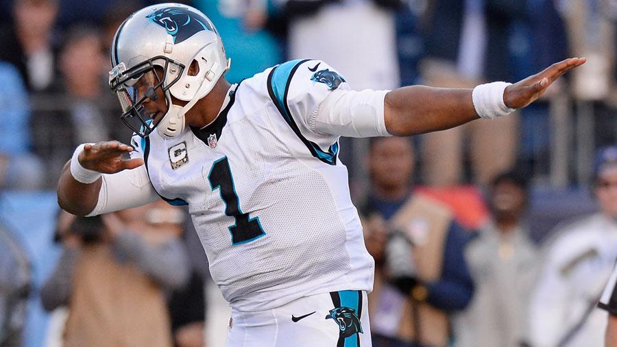 Cam Newton, quarterback of the Carolina Panthers.