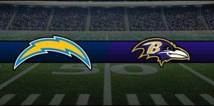 Chargers vs Ravens Result NFL Score