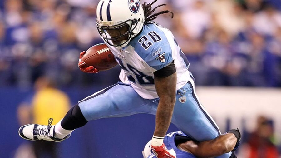 Running back Chris Johnson of the Cardinals.