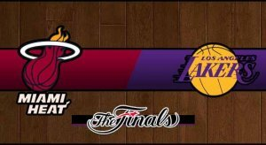Heat vs Lakers Basketball NBA Championship Score