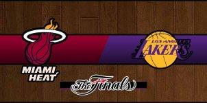 Heat vs Lakers Basketball NBA Championship Score
