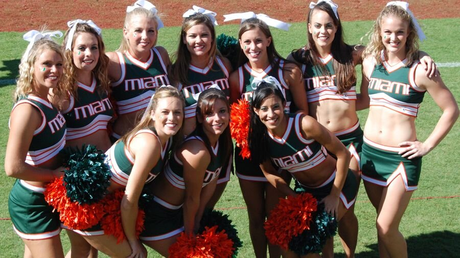 Miami's cheerleaders.