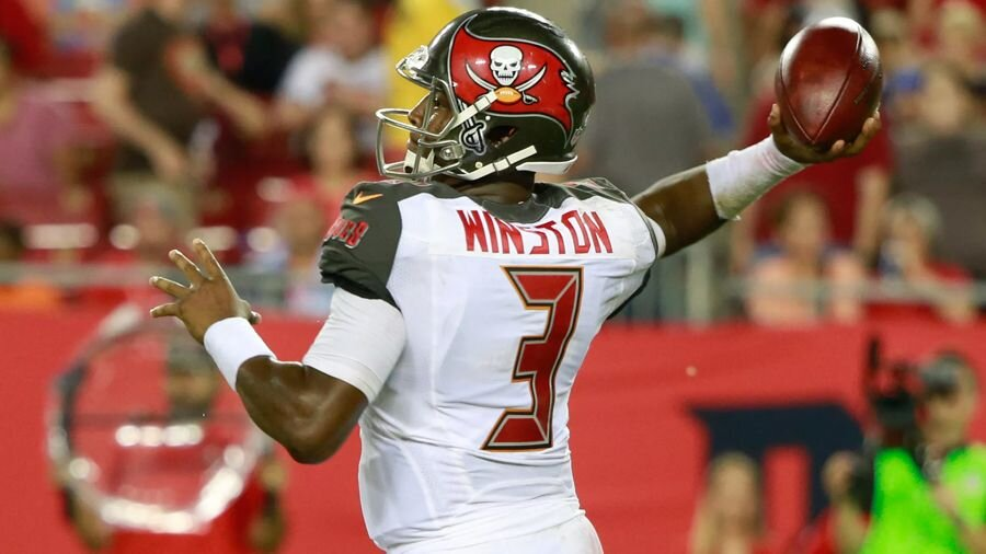 Jameis Winston, on his way to be rookie of the year.