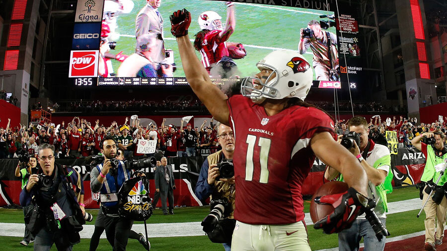 Larry Fitzgerald, WR of the Arizona Cardinals.