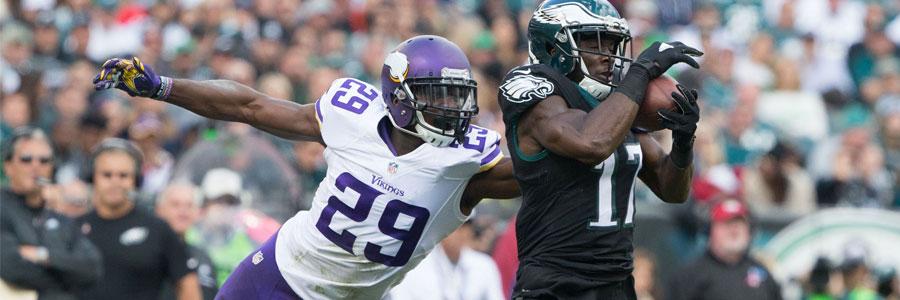 Vikings at Eagles NFC Championship Lines & Betting Prediction