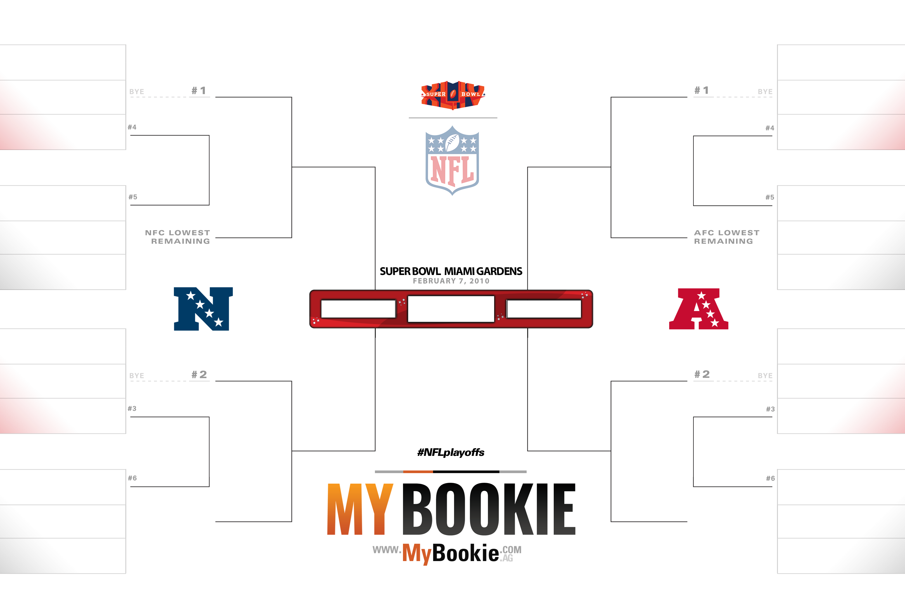 NFL Playoffs / Superbowl 2010 Printable Bracket