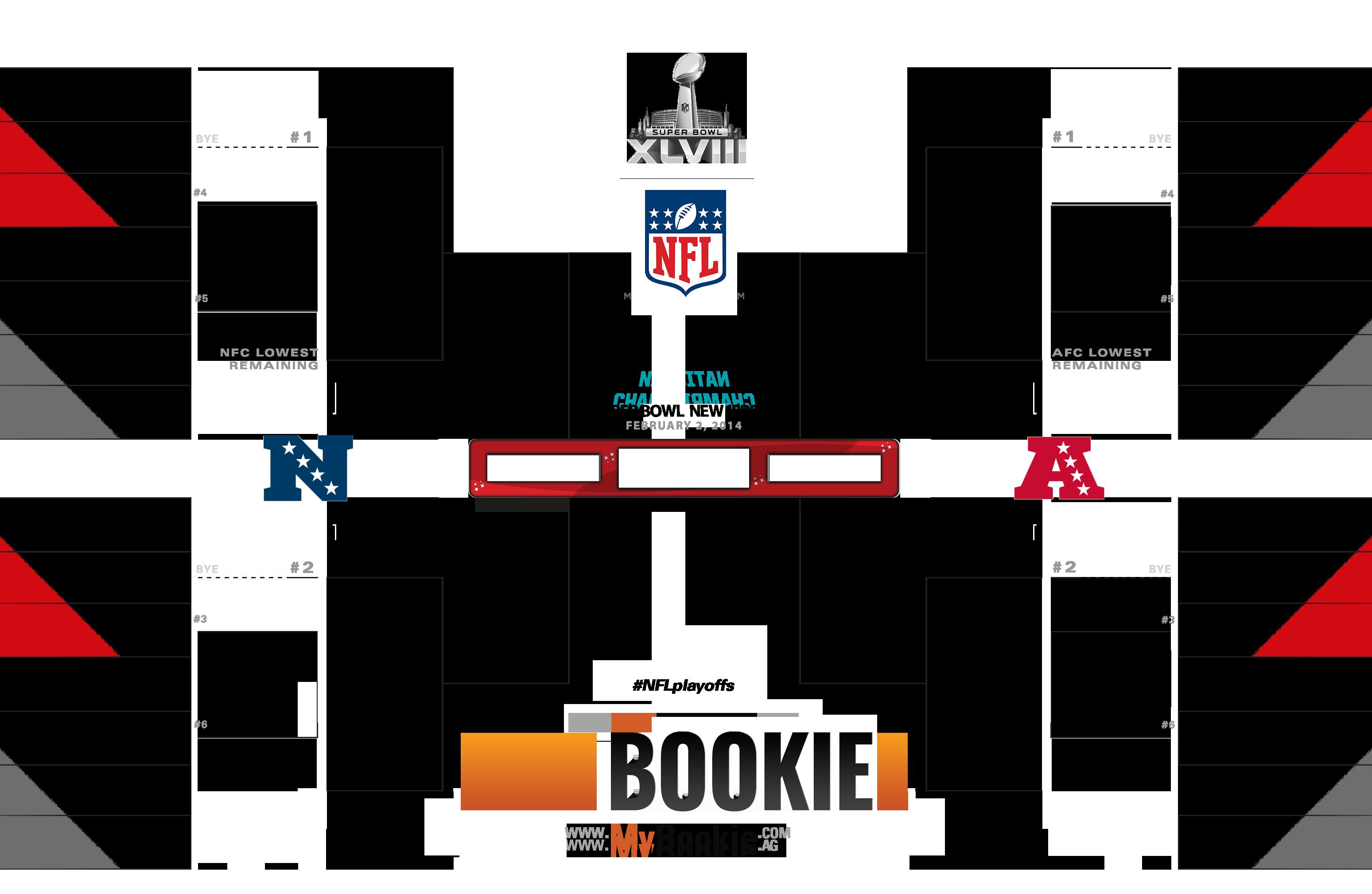 NFL Playoffs / Superbowl 2014 Printable Bracket