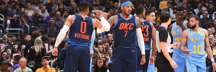 Thunder Are Underdogs in NBA Spread vs. Timberwolves on Wednesday