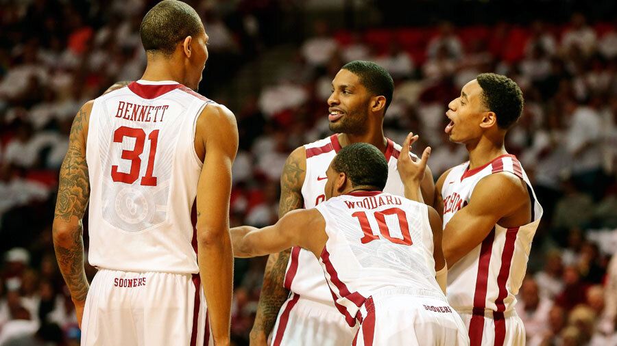 The Oklahoma Sooners will share the court with Baylor.