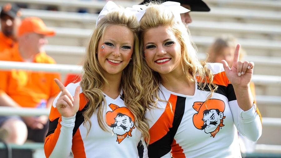 Oklahoma State's cheerleaders.