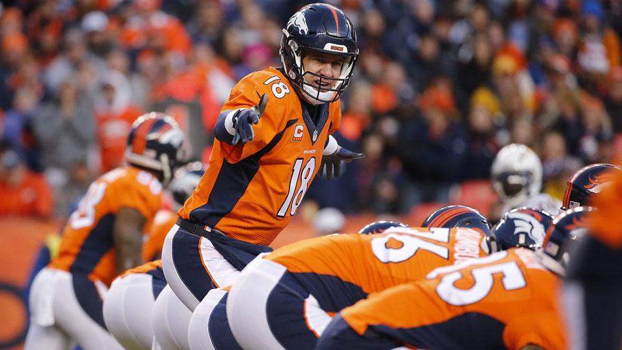 Peyton Manning and the Denver Broncos.
