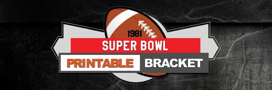 1981 NFL Printable Bracket