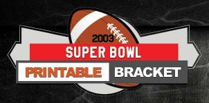 2003 NFL Printable Bracket