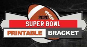 2020 NFL Printable Bracket