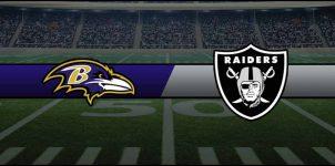 Ravens vs Raiders Result NFL Score