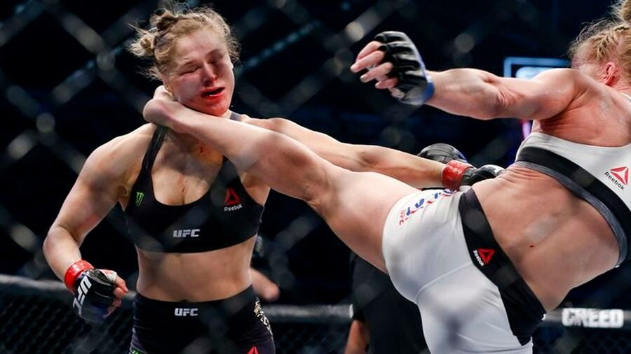 Rousey succumbs to Holm.