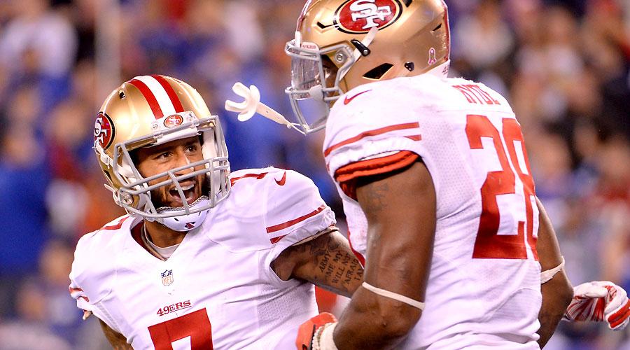 San Francisco 49ers Colin Kaepernick and Carlos Hyde