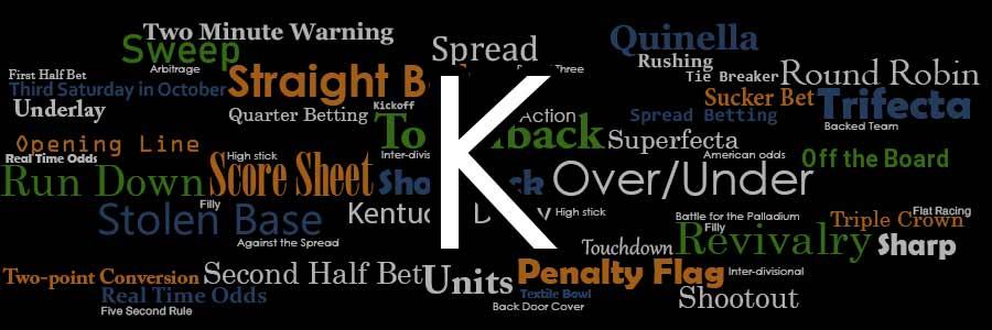 Bookie betting slang words top betting site