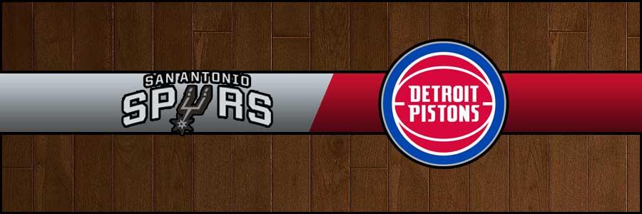 Spurs vs Pistons Result Basketball Score