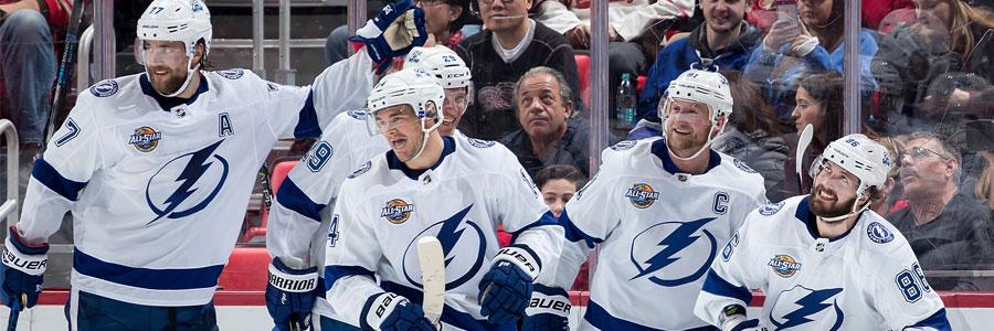 Lightning Are Home Favorites in NHL Odds vs. Hurricanes