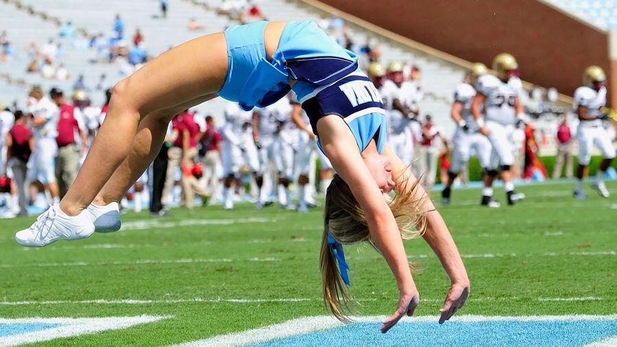 North Carolina's cheerleaders.
