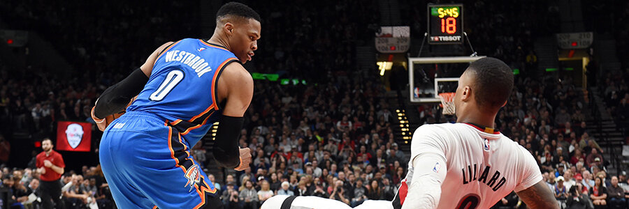 Will OKC get back on track? Or, will the Blazers grab a commanding lead?