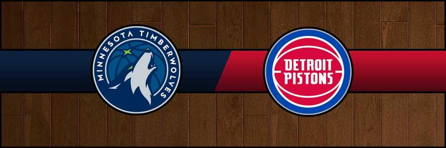 Timberwolves vs Pistons Result Basketball Score