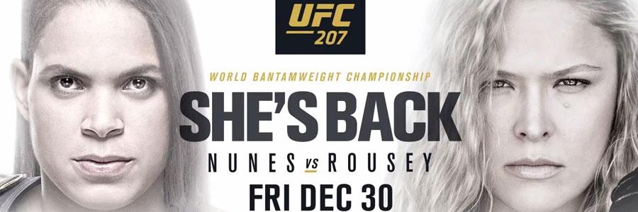 UFC 207 Amanda Nunes vs. Ronda Rousey Betting Prediction