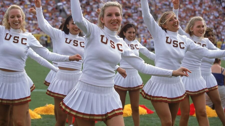 USC's cheerleaders.