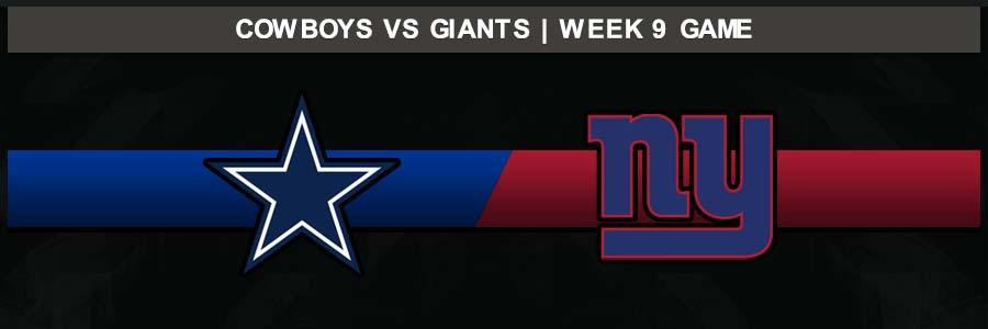 Cowboys @ Giants Week 9 Result Sunday Football Score