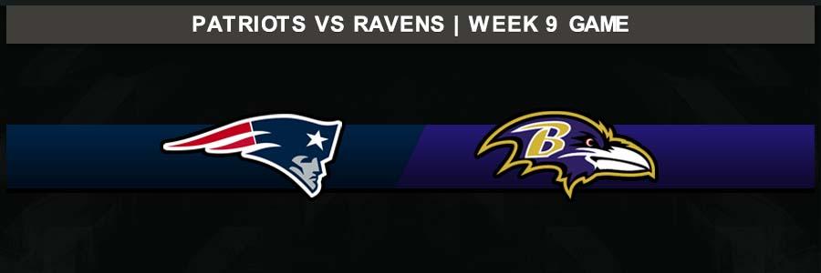 Patriots @ Ravens Week 9 Result Sunday Football Score