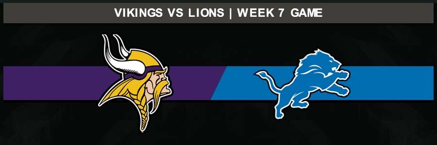 Vikings 42 @ Lions 30, Week 7 Result Sunday Football Score