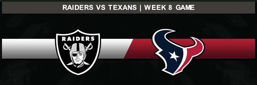 Raiders @ Texans, Week 8 Result Sunday Football Score