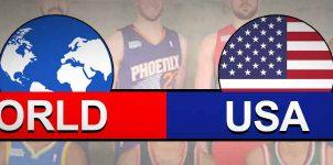 World vs USA Result All Star Basketball Score